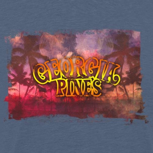 Georgia Pines Band Shirt Palmen Rahmen - Männer Premium T-Shirt