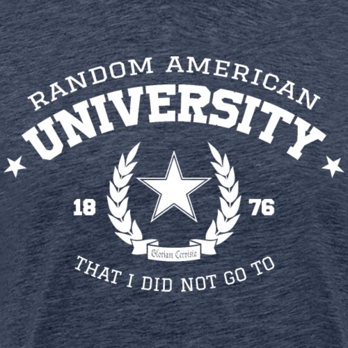 Random University - Mannen Premium T-shirt