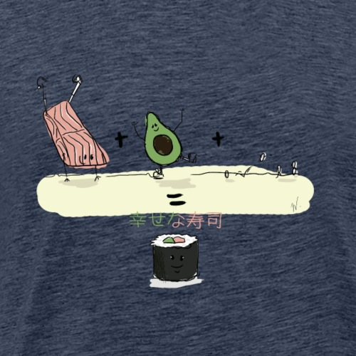 Happy Sushi - T-shirt Premium Homme