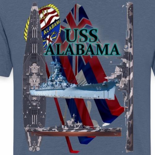 USS ALABAMA - Männer Premium T-Shirt