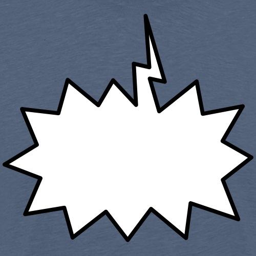 Text Balloon (shout 2 colours) - Men's Premium T-Shirt