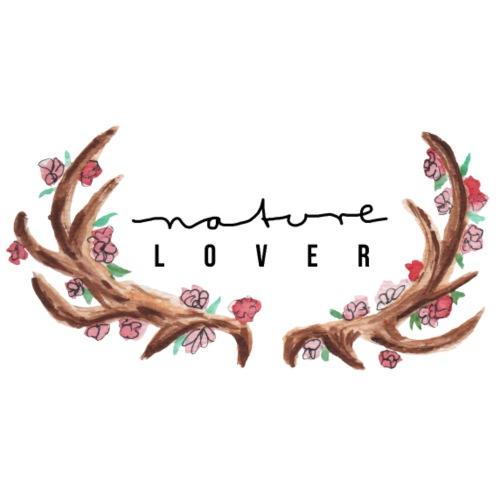 nature lover Geweih Natur Blumen - Männer Premium T-Shirt
