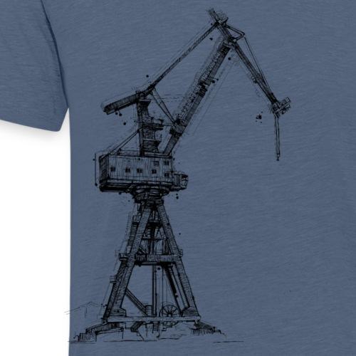 Hafenkran Zeichnung - Männer Premium T-Shirt