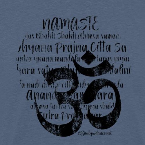 OM - Namaste black rugged - Männer Premium T-Shirt