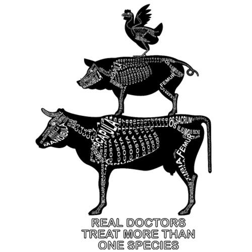 Echte artsen ... grote dieren - Mannen Premium T-shirt