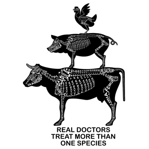 Real Doctors ... Rind, Schwein, Huhn - Männer Premium T-Shirt