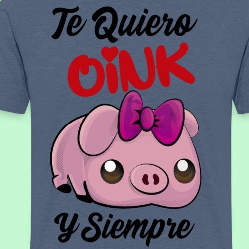 Pareja de cerdito Te quiero oink 2/2 - Camiseta premium hombre