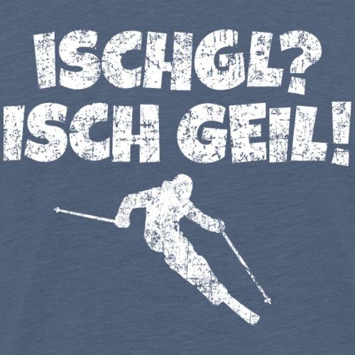 Ischgl Ischgeil Skifahrer (Weiß) Winter Apres-Ski - Männer Premium T-Shirt