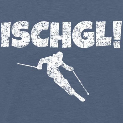 Ischgl Skifahrer (Weiß) Apres-Ski Schnee Winter - Männer Premium T-Shirt