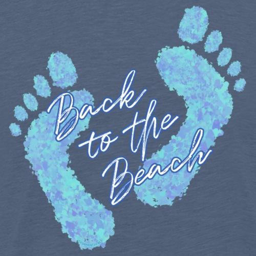 Barefoot on the Beach, Fun Summer Textiles, Gifts - Miesten premium t-paita