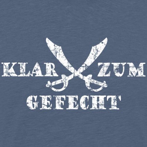Klar zum Gefecht Piraten Säbel (Vintage/Weiß) - Männer Premium T-Shirt