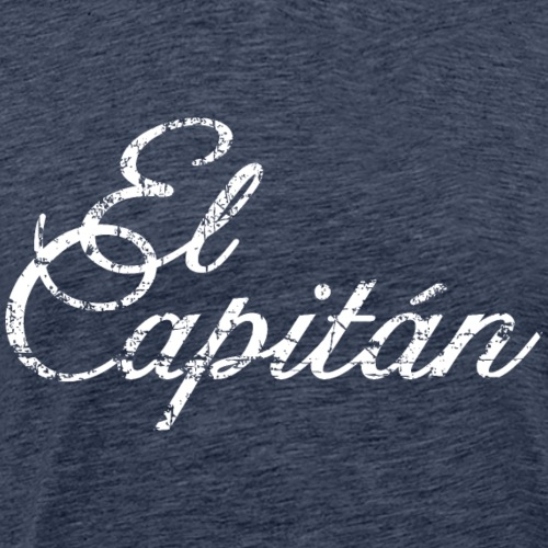 El Capitán Kapitän Segler Segel (Vintage/Weiß) - Männer Premium T-Shirt