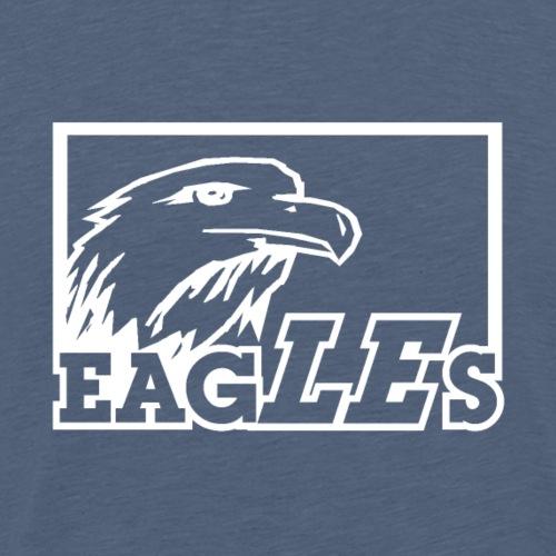 Eagles Logo weiß - Männer Premium T-Shirt