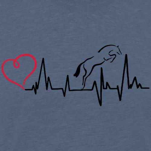 Heartbeat Herzschlag Springpferd - Männer Premium T-Shirt