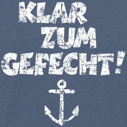 Klar zum Gefecht! Anker Vintage Weiß - Männer Premium T-Shirt