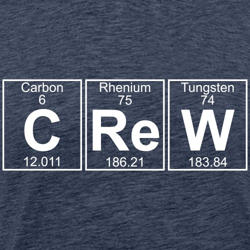 C-Re-W (crew) - Full - Men's Premium T-Shirt