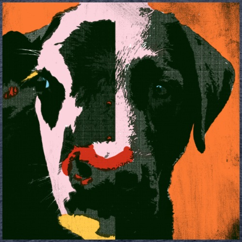 Cow is dog single Warhol style print design - Men's Premium T-Shirt
