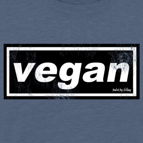 Vegan vintage logo - Men's Premium T-Shirt