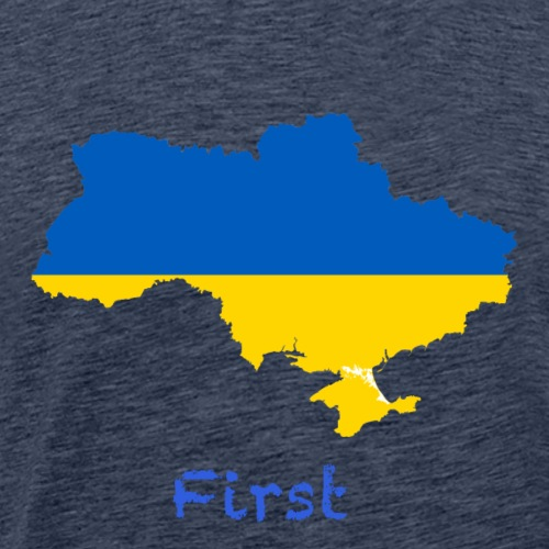 Ukraine First - Männer Premium T-Shirt