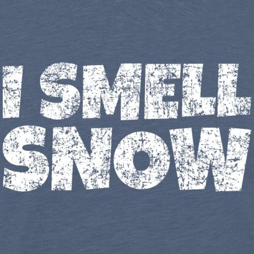 I Smell Snow Schnee, Weihnachten & Wintersport - Männer Premium T-Shirt