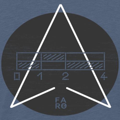 Scale Bar vs. North Arrow - Männer Premium T-Shirt