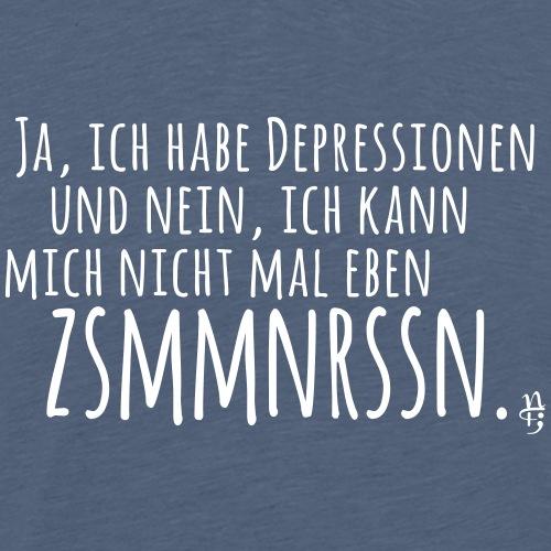 Depression - Zusammenreissen - Männer Premium T-Shirt