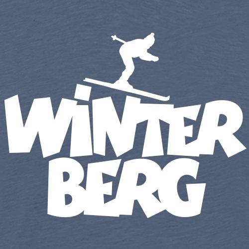 Winterberg Ski Skifahrer Wintersport - Männer Premium T-Shirt