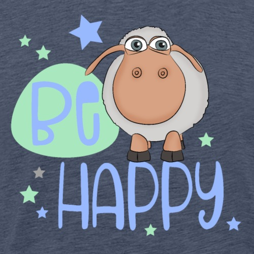 Be happy sheep - Happy sheep - lucky sheep - Men's Premium T-Shirt
