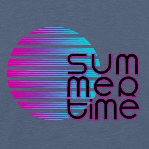 Sommerzeit SummerTime - Lüstiges Geschenk T-Shirt - Männer Premium T-Shirt