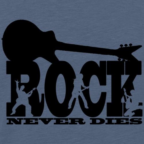 rock never dies black - Maglietta Premium da uomo