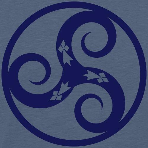 Triskell & Hermines, Celte Breizh - T-shirt Premium Homme
