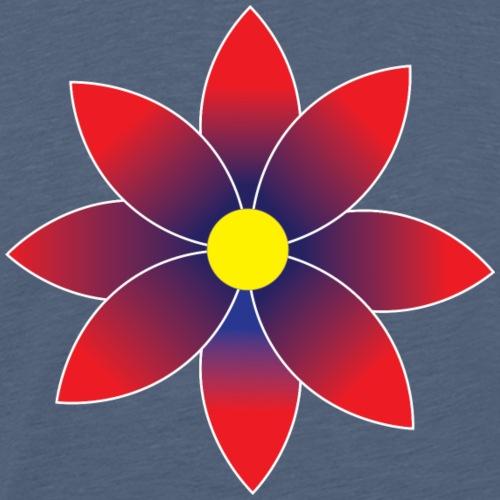 Graduated Red Daisy Flower - Men's Premium T-Shirt