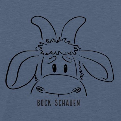 Schafbock: Bock schauen - schwarz - Männer Premium T-Shirt