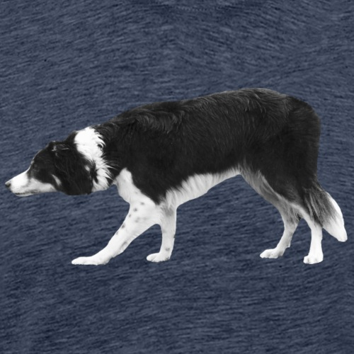 Border Collie hütet - Männer Premium T-Shirt