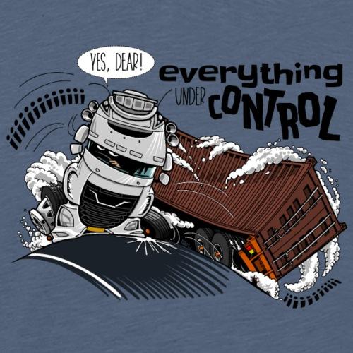 D TRUCK CONTROL UK RIGHT - Mannen Premium T-shirt