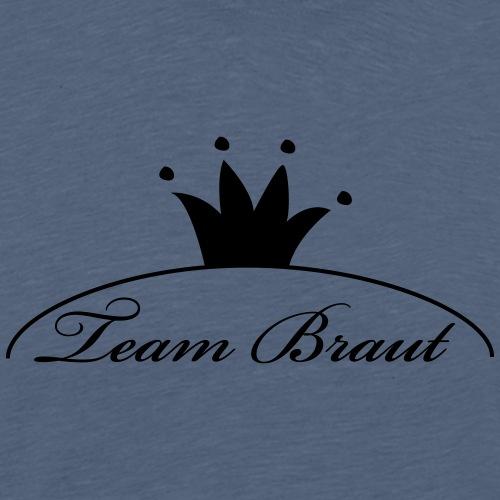 Team Braut - Brautkrone - Junggesellinnen Abschied - Männer Premium T-Shirt