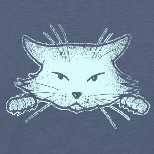 Lustige genervte süße Perser Katze Geschenk Grunge - Männer Premium T-Shirt