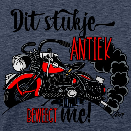 Dit stukje antiek beweegt me! (kleur) - Mannen Premium T-shirt