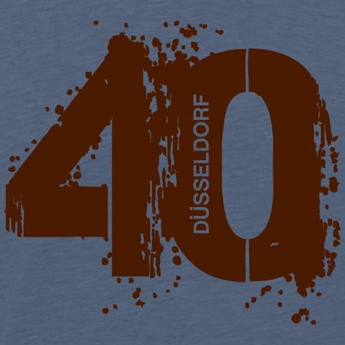 City_40_Düsseldorf - Männer Premium T-Shirt
