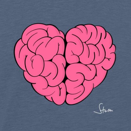 Herz und Hirn - Männer Premium T-Shirt