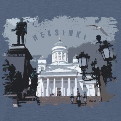 Helsinki tuomiokirkko T-paidat, hupparit, tuotteet - Miesten premium t-paita