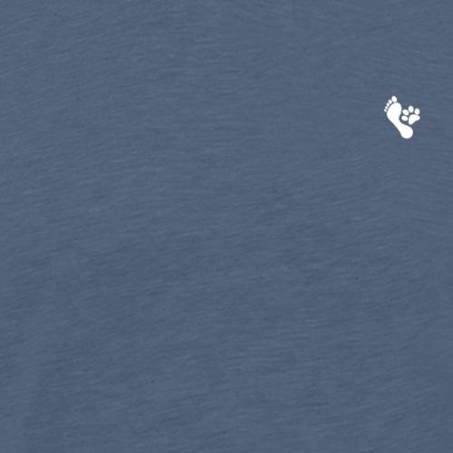 Fuss und Hunde Pfote - Männer Premium T-Shirt