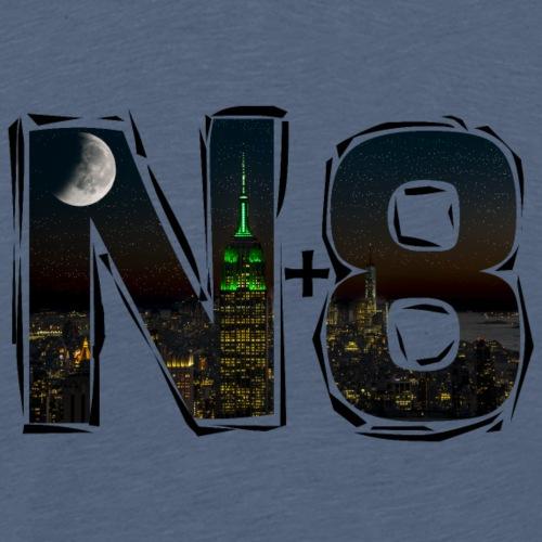 N8 Noche Nit, Nuit, Noite Notte, Noapte Night, N+8 - Camiseta premium hombre