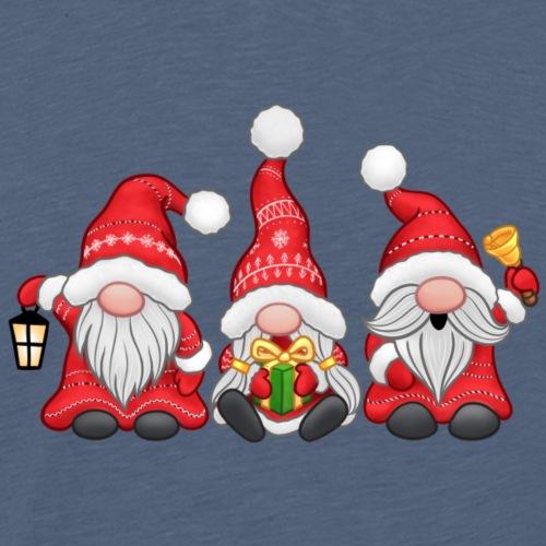 Festive Gnomes - Men's Premium T-Shirt