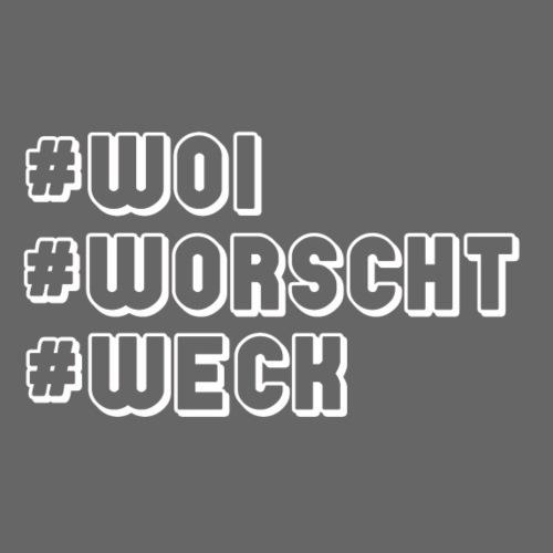 #Woi #Worscht #Weck - Männer Premium T-Shirt