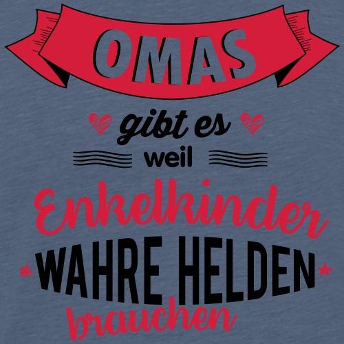 Oma - wahre Heldin - Männer Premium T-Shirt