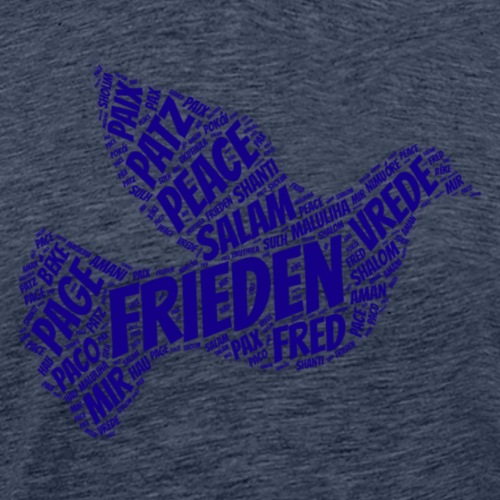 Taube Frieden peace - Männer Premium T-Shirt