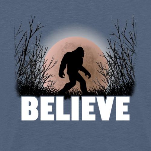 Bigfoot - Believe - Men's Premium T-Shirt