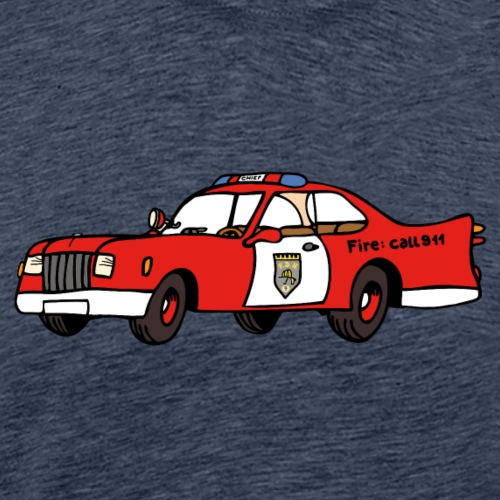 fire chief car - Männer Premium T-Shirt