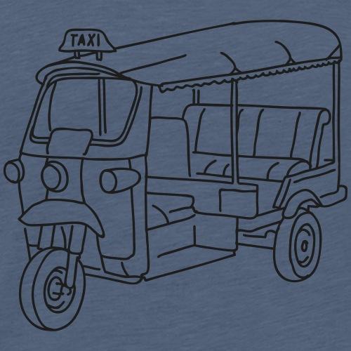 Tuk-Tuk, Taxi aus Indien - Männer Premium T-Shirt